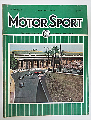Motor Sport Magazine July 1963 Station Hairpin