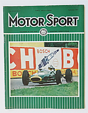 Motor Sport Magazine September 1963 Brabham