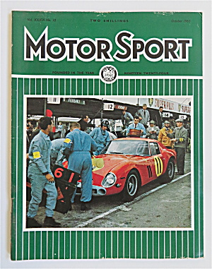 Motor Sport Magazine October 1963 Pit Stop