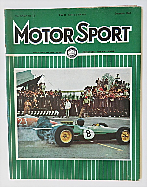 Motor Sport Magazine December 1963 Sixth World Champion