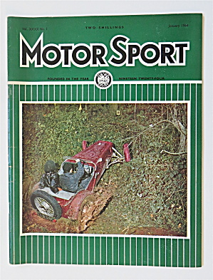 Motor Sport Magazine January 1964 Mudplugging