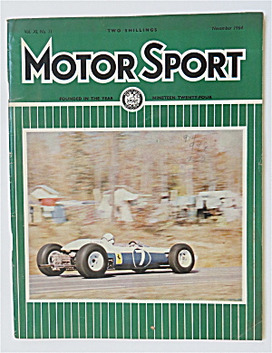 Motor Sport Magazine November 1964 Colour Blind