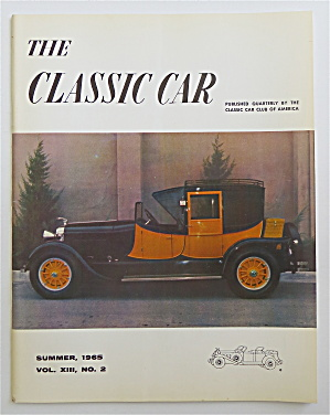 The Classic Car Magazine Summer 1965 1927 Lincoln  (Image1)