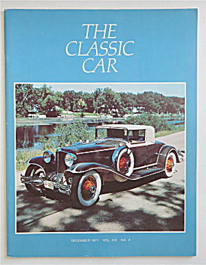 The Classic Car Magazine December 1971 1931 L-29 Cord (Image1)