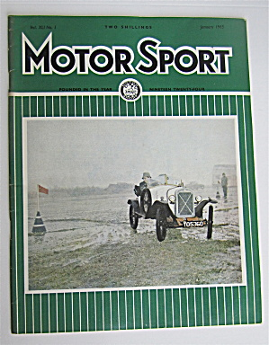 Motor Sport Magazine January 1965 Clean Car
