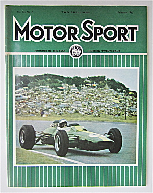 Motor Sport Magazine February 1965 Pure Genius
