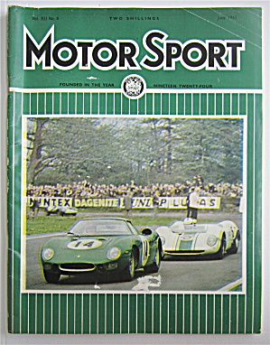 Motor Sport Magazine June 1965 The R.a.c. T.t.