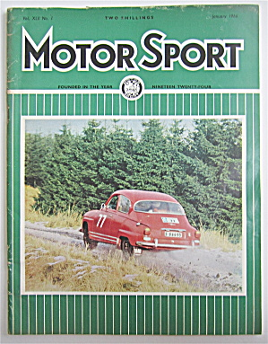 Motor Sport Magazine January 1966 R.a.c. Rally