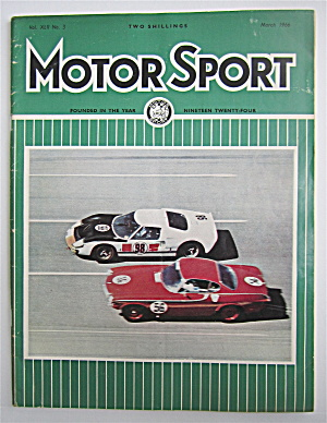 Motor Sport Magazine March 1966 Banked Speed