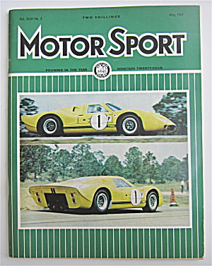 Motor Sport Magazine May 1967 First Appearance