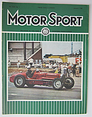 Motor Sport Magazine January 1968 Sir Ralph Millais