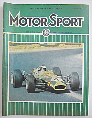 Motor Sport Magazine February 1968 Four In A Row