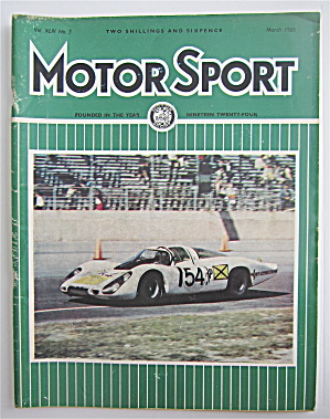 Motor Sport Magazine March 1968 Another Porsche Win