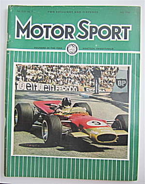Motor Sport Magazine July 1968 Graham Hill