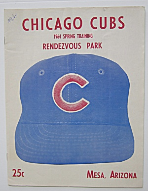 1964 Chicago Cubs Spring Training Program, Mesa Az