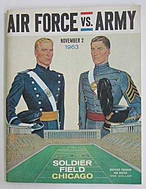1963 Air Force Vs Army Souvenir Program Chicago