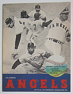 1966 California Angels Official Scorebook/magazine