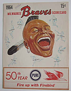 1964 Milwaukee Braves Vs Phillies Scorecard