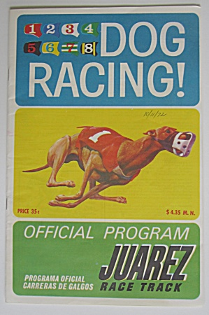 1972 Dog Racing Form, 2 Tickets & 2 Jockey Club Tickets