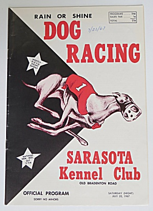 1967 Official Dog Racing Program & 2 Season Passes