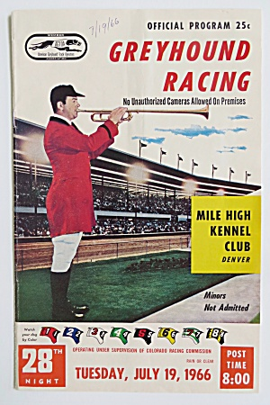 1966 Official Greyhound Racing Program