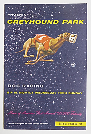 1964 Greyhound Park Dog Racing Program & Tickets