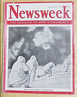 Newsweek Magazine January 29, 1945 The Red Tide