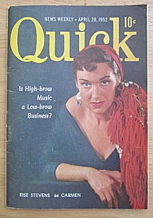 Quick Magazine April 28, 1952 Rise Stevens as Carmen (Image1)