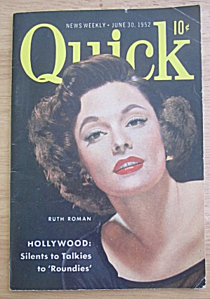 Quick Magazine June 30, 1952 Ruth Roman