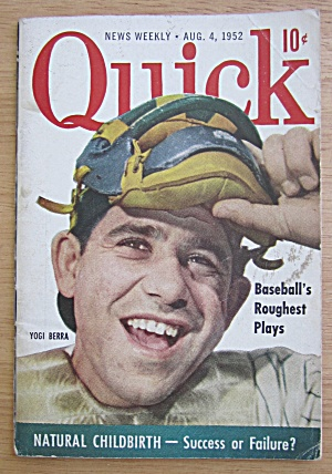Quick Magazine August 4, 1952 Baseball's Yogi Berra