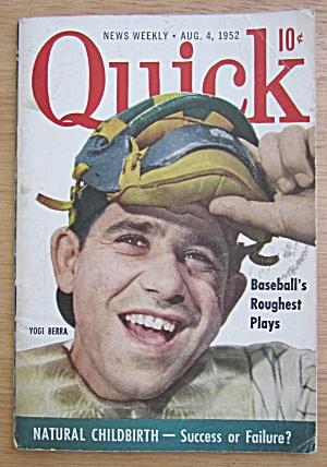 Quick Magazine August 4, 1952 Baseball's Yogi Berra  (Image1)