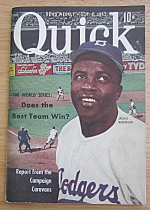 Quick Magazine October 6, 1952 Baseball Jackie Robinson (Image1)