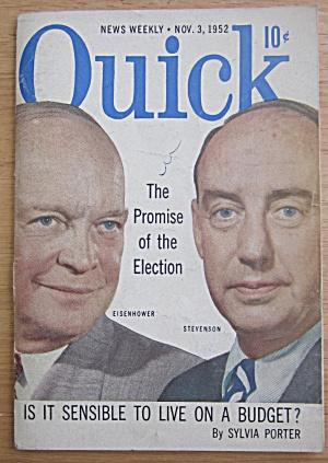 Quick Magazine November 3, 1952 Eisenhower/Stevenson (Image1)