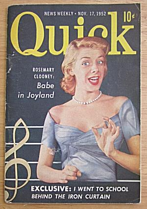 Quick Magazine November 17, 1952 Rosemary Clooney  (Image1)