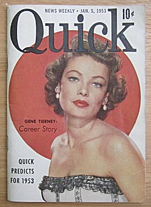 Quick Magazine January 5, 1953 Gene Tierney  (Image1)