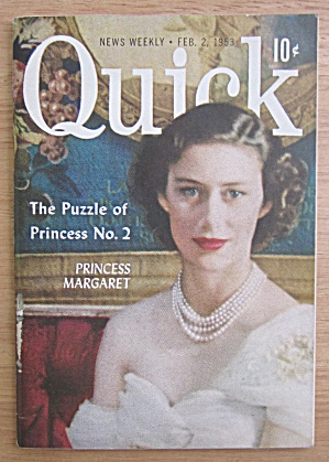 Quick Magazine February 2, 1953 Princess Margaret