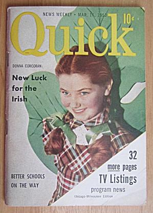 Quick Magazine March 16, 1953 Donna Corcoran (Image1)