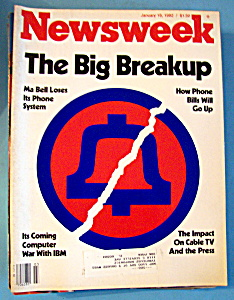 Newsweek Magazine - January 18, 1982 - Big Breakup