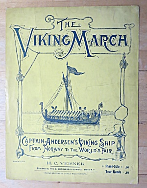 1921 The Viking March Sheet Music (Columbian Expo)