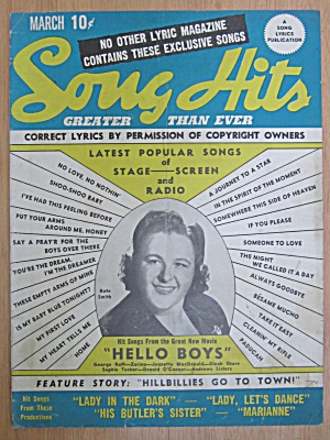 March 1944 Song Hits Kate Smith Cover  (Image1)