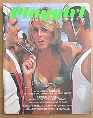 Playgirl Magazine August 1974 The Rogers Brothers