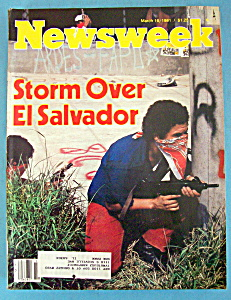 Newsweek Magazine - March 16, 1981 - El Salvador