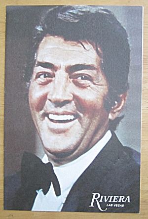 1960's Riviera Las Vegas Menu With Dean Martin Cover
