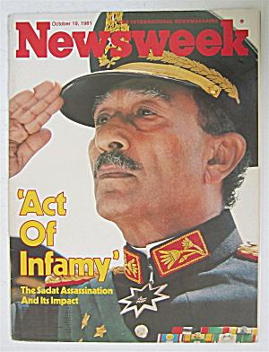 Newsweek Magazine-October 19, 1981-Sadat Assassination (Image1)