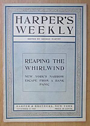 Harper's Weekly Magazine November 9, 1907 Whirlwind (Image1)