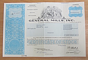 1986 General Mills Incorporated Stock Certificate