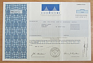 1999 Cisco Systems Stock Certificate