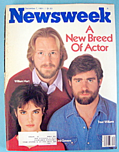 Newsweek Magazine -december 7, 1981- New Breed Of Actor