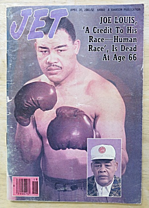 Jet Magazine April 30, 1981 Boxing Legend Joe Louis