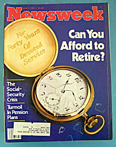 Newsweek Magazine - June 1, 1981 - Retirement